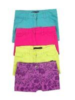 George Girls 5 Pockets Stud Fasten Cerise/Purple shorts Ages 4 5 6 BRAND NEW