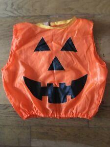 Halloween costume - orange pumpkin costume, 1-4 year old VG