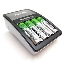 Batterie Ladegerät Akku Laden AA AAA NiMH Display Ladeschutz + 4 Batterien NEU