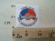 STICKER,DECAL ROYAL NETHERLANDS AIR FORCE,LEGER, ARMY, FOKKER - 50 / 60 AIRPLANE