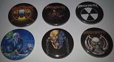 6 Megadeth button badges Rust In Peace sells Countdown Metallica So Far So Good