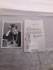 Erma Bombeck Autograph Signed Photo & Letter Read Description