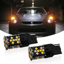No Resistor Required Amber 7440 3535-SMD LED Front Rear Turn Signal Light Bulbs