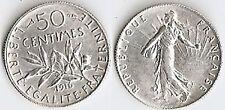 50 CTS ARGENT 1916 SEMEUSE  ÉTAT VOIR PHOTO ET DESCRITIF