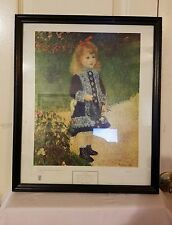 """Renoir Girl With Watering Can 18"""" x 15"""" Collector Print National Gallery Of Art"""