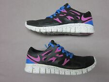 NIKE RARE FREE RUN 2 EXT BLACK PINK & BLUE RUNNING SHOES SIZE 6.5 #536746-008