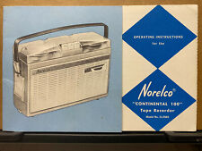 Owner Manual for the Norelco EL3585 Continental 100 Tape Recorder Deck