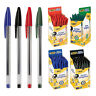 50's/100's x BIC CRISTAL Medium Ball Pens & Orange Fine Point In Black Blue Red