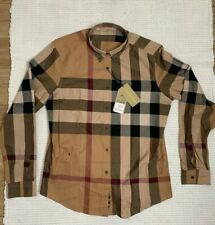 NWT Burberry Mens casual xl xLarge Button Down Shirt Slim For large Size New