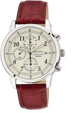 Seiko Classic Chronograph SNDC31 Leather Band Men's Watch