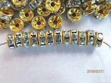 1 Gross Swarovski Rhinestones Rondelle Beads - Azure - 6mm Round - Quality