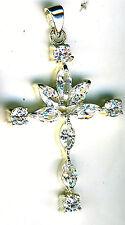 Sterling Silver 925 Cross Pendant Cubic Zirconia