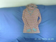 Girls  12 Years  - Multi Coloured Striped Hooded Fine Knit Jumper - Next