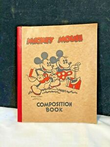 Vintage Mickey Mouse Composition Book 1930s Mickey & Minnie