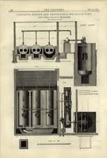 1884 Bomba de Drenaje centrífugo motor compuesto Hathorn Davey