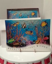 Christmas greeting cards Under the Sea, 10 cards with envelopes