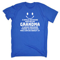 I Smile Because Youre My Grandma Funny Kids Childrens T-Shirt tee TShirt