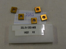 5 NEW SECO 335.19-1203-M08 CARBIDE INSERTS.  GRADE:T25M {D282}