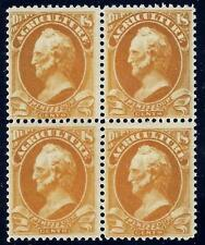U.S. O8 FVF MNH Blk/4 SCV$3,950.00 Rare