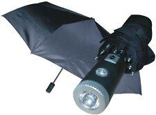 Umbrella Flashlight LED Light Automatic Rain Night Flash Black Carrying Case NEW