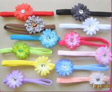 10 Mini Flower Skinny Thin Hair Girl Soft headband newborn baby Shower Bow gift
