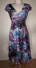NEW KOMAROV Multicolor Floral Pleated Charmeuse DRESS SIZE SMALL (4-6) $298