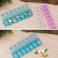 7Day Pill Box Medicine Tablet Dispenser Organiser Weekly Health Holder R5J4