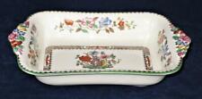 Copeland Spode CHINESE ROSE 629599 Green Trim Floral Rectangular Baker 7.5 x 10