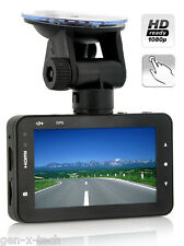 1080p Full HD Car Video DVR 3 Inch Touchscreen: G-Sensor: Motion Detection H.264