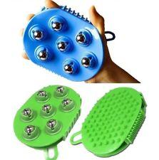 Silicone Ball Glove Full Body Massage Scrub Dead Skin Remover Color Random