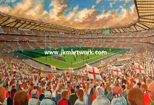 Twickenham Stadium Fine Art A3 Print - England Rugby Union