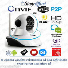 IP CAMERA TELECAMERA WIRELESS WIFI INFRAROSSI MOTORIZZATA IP CAM IPHONE ANDROID.