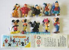 TOPOLINO 2004 Mickey Mouse_ SORPRESINE ZAINI (serie completa 10 pezzi + cartina)