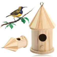 New Wooden Bird House Birdhouse Hanging Nest Nesting Box For Home Garden Decor