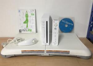 Nintendo Wii Console Bundle - Wii Fit Board & Games - 24 Months Warranty
