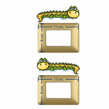 Adesivi murali coccodrilli Wall decal light switch crocodriles 2 pz.