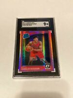 CHANDLER HUTCHISON RC 2018-19 DONRUSS OPTIC HYPER PINK PRIZM #166 SGC 9 MINT