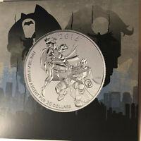 2016 Canada Batman v Superman $20 Dollar 1/4 Ounce Silver Coin UNC
