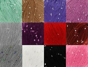 50g King Cole Galaxy DK Free Knitting Pattern Double Knit Sequin Yarn 1 3 6 12