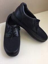 Propet  Diabetic Shoes women's Black Leather PedWalker 7 M orthopedic Lace up