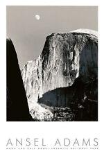 ANSEL ADAMS - Moon and Half Dome, Yosemite National Park (embossed) PHOTO PRINT