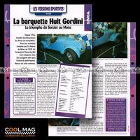 #hvf.74.05 SIMCA 8 HUIT GORDINI 1939 Racing Sport Calssic Car Fiche Auto