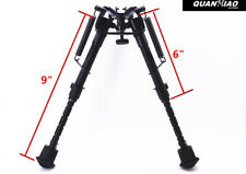 Tactical Rifle Bipod 6- 9 Inch Adjustable Spring Return for Hunting Rifle Stents