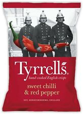 Tyrells Sweet Chill and Red Pepper Crisps Case 24 Packs 40g Best Before 20/02/21