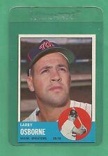 1963 Topps Washington Senators Larry Osborne # 514 NM-MT Tough Card !!!