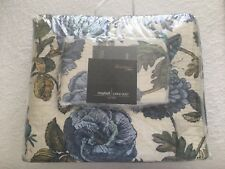 Maybell Large/Queen Printed Cotton Quilt/Coverlet Blueberry/Cream New Never Used