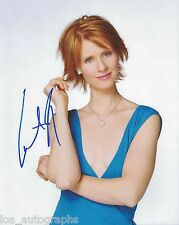 "Cynthia Nixon Sex and the City Miranda REAL hand SIGNED 8x10"" Photo #3 w/ COA"
