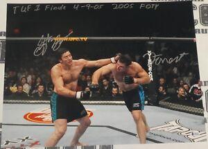 Forrest Griffin Stephan Bonnar Signed 16x20 Photo BAS COA UFC Ultimate Fighter 1