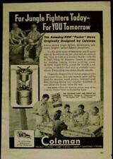 Coleman Pocket Stove 1944 vintage AD WWII *For Jungle Fighters Today*