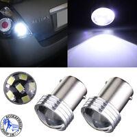 2 1156 BA15S P21W 6 LED 2835 COB SMD Car Reverse Back Turn Tail Light Bulb White